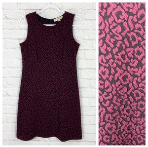 LOFT Ann Taylor Leopard Sleeveless Fit Flare Dress